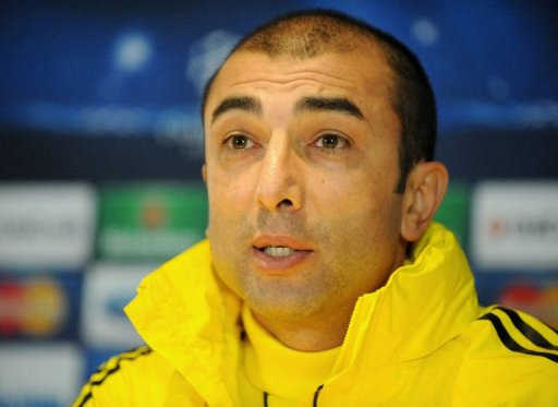 Chelsea manager Roberto Di Matteo speaks during a press conference at Stamford Bridge