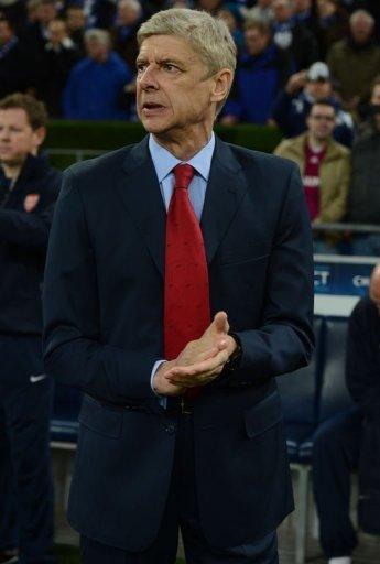 Arsenal's headcoach Arsene Wenger