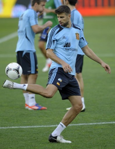 Gerard Pique defender was included in the Barcelona squad for Wednesday's tie in Glasgow