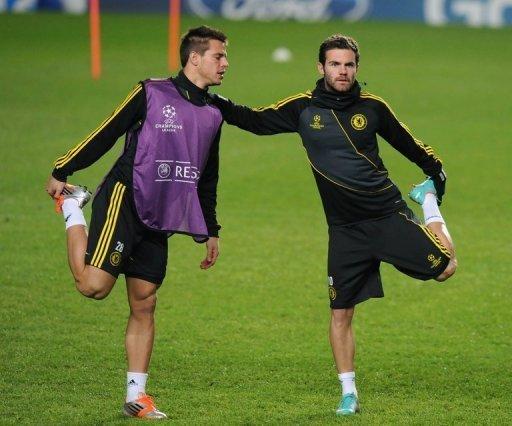 Chelsea playmaker Juan Mata (R) has billed Wednesday's clash 'like a final'