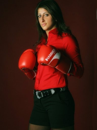 Rola El-Halabi, who won the women's IBA and IBF lightweight titles in 2009