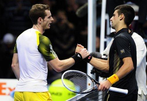 Novak Djokovic (R) won 4-6, 6-3, 7-5