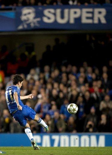Chelsea's Oscar shoots to score