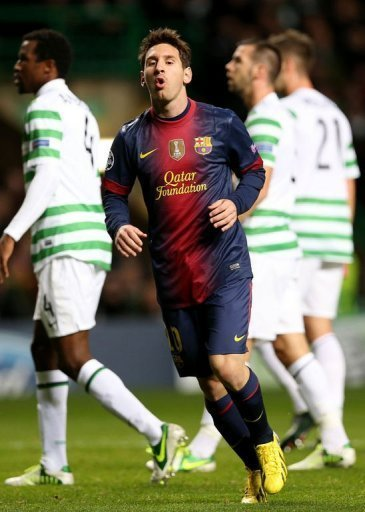 Barcelona's Lionel Messi, pictured during their UEFA Champions League match against Celtic