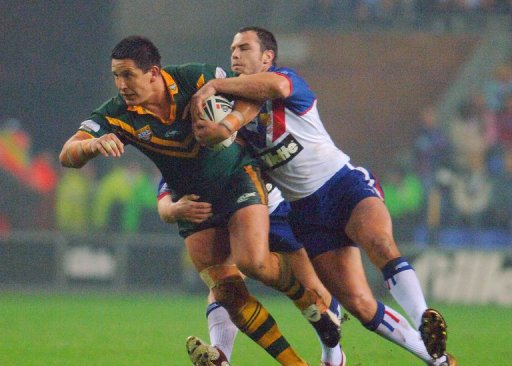 Danny Buderus (L) captained New South Wales to their last State of Origin series win over Queensland in 2005
