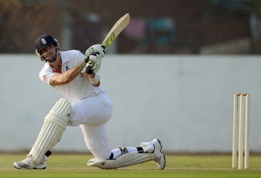 Pietersen hit 110 off 94 balls as the tourists piled up a massive 408-3