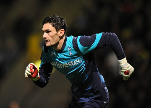 Tottenham's French goalkeeper Hugo Lloris