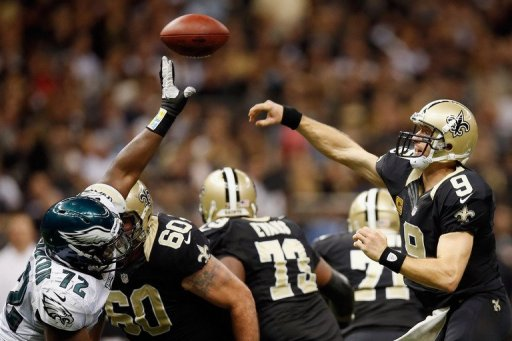 Brees is 10-2 against the Falcons since joining the Saints in 2006