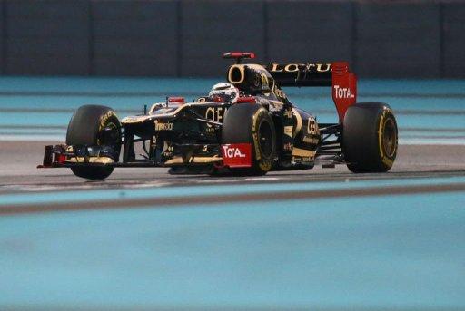 Lotus F1 Team's Finnish driver Kimi Raikkonen drives on November 4