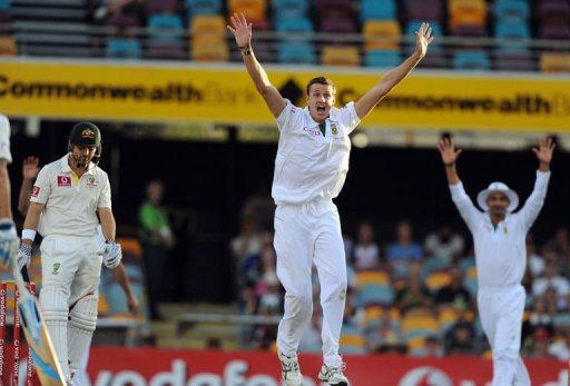 South Africa, who made 450, had the hosts Australia under pressure at 111 for three in reply at stumps.