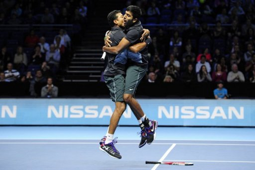Bhupathi (left) admitted it was an emotional victory