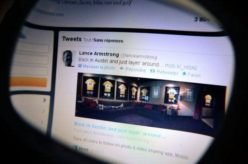 Lance Armstrong tweets picture from his Austin home
