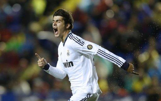 Real Madrid's Alvaro Morata celebrates after scoring