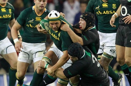 South Africa overcame a 12-3 half-time deficit to beat Ireland 16-12