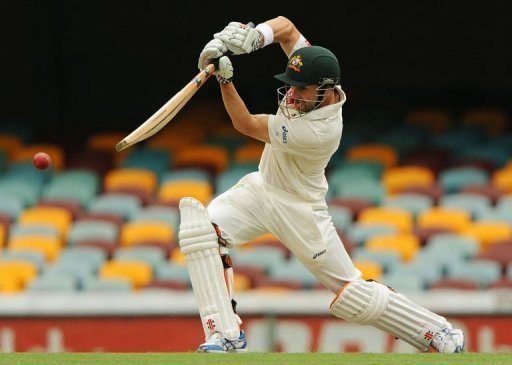 Ed Cowan, pictured, and Michael Clarke scored centuries as Australia closed in on South Africa's big first innings score