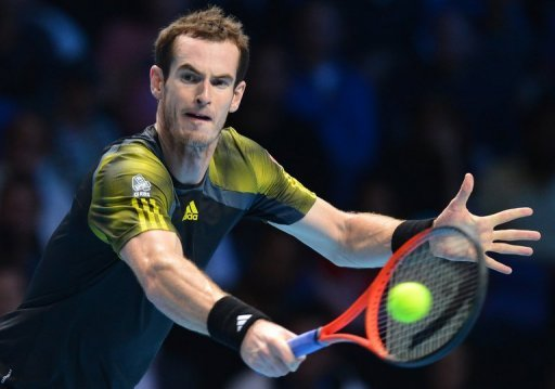 Andy Murray, pictured, bowed out at the semi-final stage of the season-ending event as Roger Federer won 7-6 (7/5), 6-2