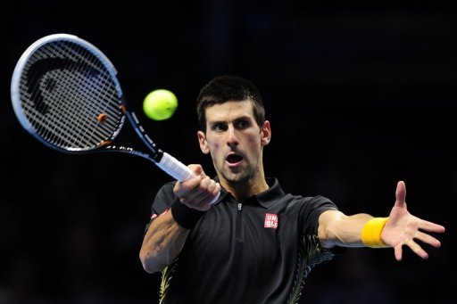 World number one Novak Djokovic, pictured, now faces Roger Federer in the final match of the season