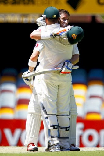 Michael Hussey's innings was the fifth century of the Gabba Test and he shared a 228-run stand with Michael Clarke