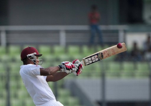 Kieran Powell smote his second Test hundred against Bangladesh in Dhaka on Tuesday