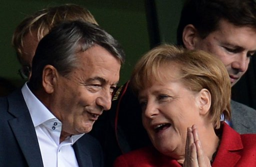 Wolfgang Niersbach (left) says the German Football Federation is