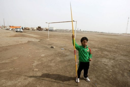 Ahmed Naas, who suffers from dwarfism, set a world record in the F40 category after hurling his javelin 43.27 metres