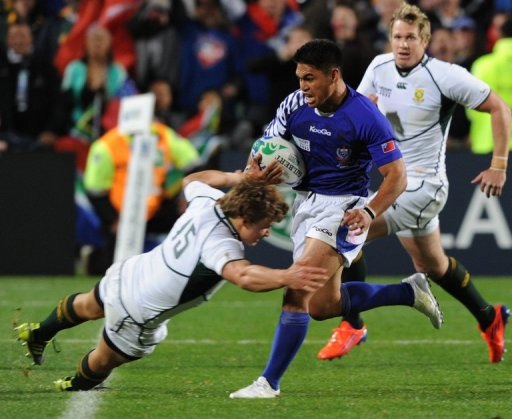 Samoa's David Lemi plays in England for the Worcester Warriors