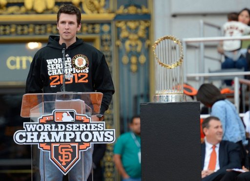 San Francisco Giants catcher Buster Posey has been named baseball's National League Most Valuable Player