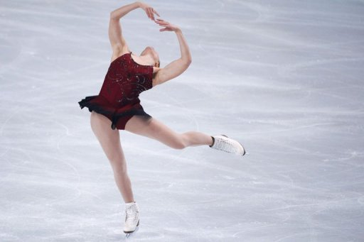 American Ashley Wagner performs in her ladies short program