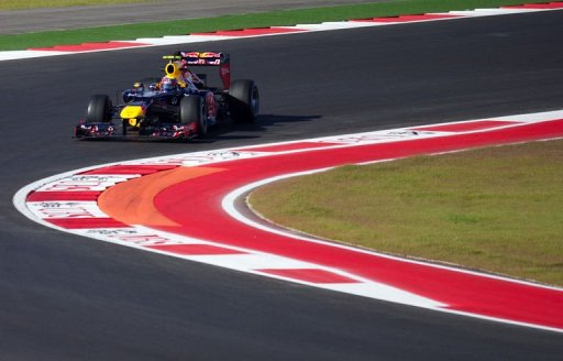 Mark Webber from Australia of Team Red Bull Racing enters turn 9