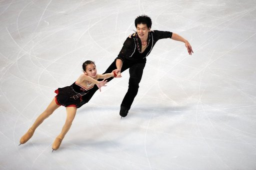 Cheng Peng and Hao Zhang's short programme has put them third going into Saturday's free skating final