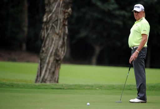 Miguel Angel Jimenez, 48, is bidding to become the oldest player to win a European Tour event