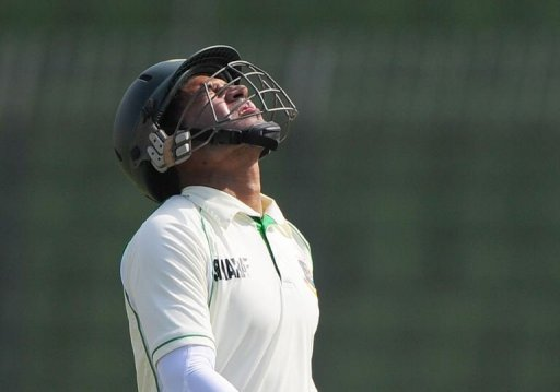Bangladesh captain Mushfiqur Rahim leaves the field after being dismissed