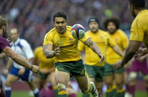 Australia wing Digby Ioane runs with the ball