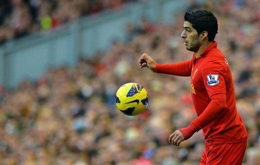 Liverpool's striker Luis Suarez