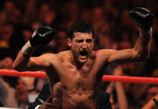 Carl Froch destroyed American challenger Yusaf Mack in three rounds in front of his home crowd in Nottingham