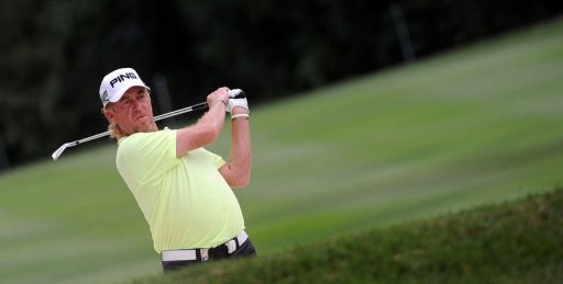 Spanish veteran Miguel Angel Jimenez carded a final-round 65 to take the trophy home by the most slender of margins