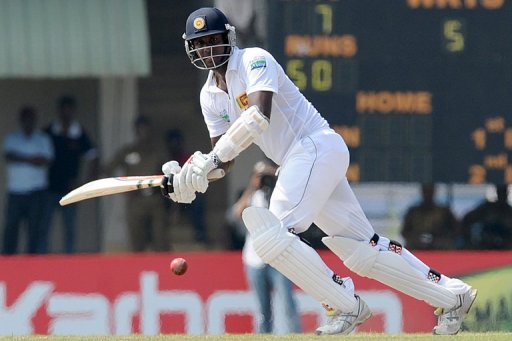 Vice-captain Angelo Mathews clocked 79