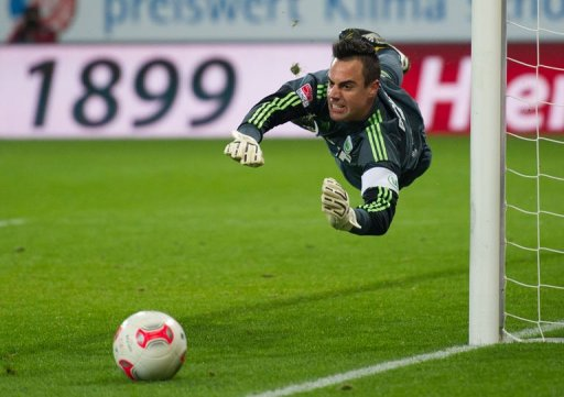 Wolfsburg's goalkeeper Diego Benaglio in action