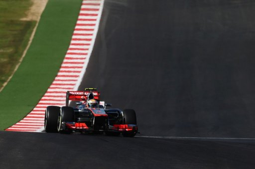 Lewis Hamilton of Great Britain and McLaren drives during the United States Formula One Grand Prix