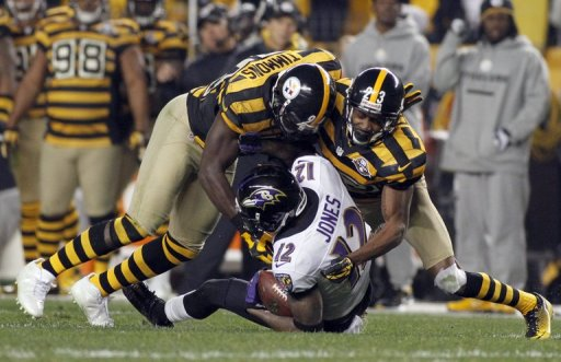 The Baltimore Ravens defeated the Pittsburgh Steelers 13-10