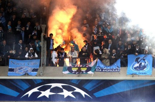 Moscow police arrested 53 Zenit fans at the Moscow Dynamo ground after the firecracker incident
