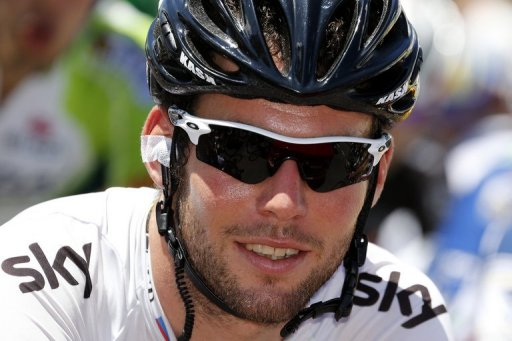Mark Cavendish said he hit the back of a car while training