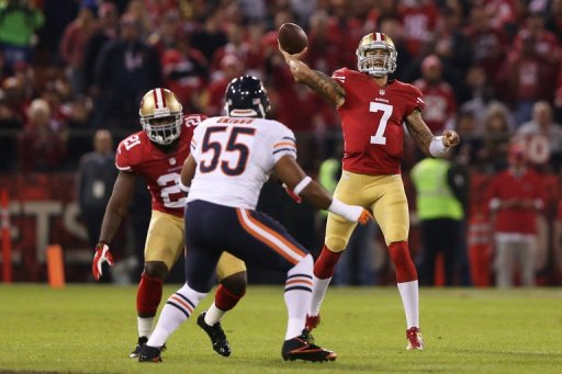 Colin Kaepernick went 16-for-23 for 243 yards and led San Francisco to scores on their first four possessions