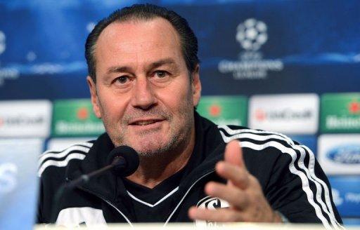 Schalke's coach Huub Stevens