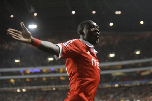 Benfica's Ola John celebrates after scoring