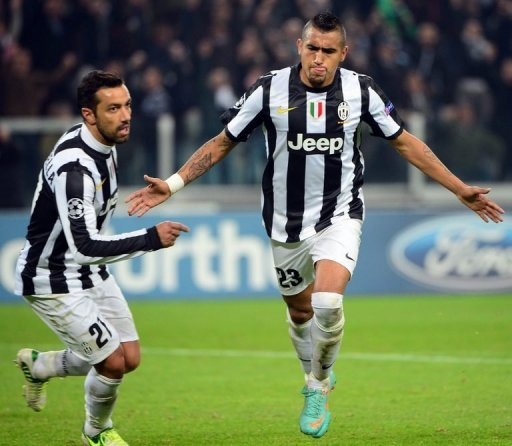 Juve doubled their lead on the hour when Arturo Vidal's shot was deflected off Chelsea midfielder Ramires