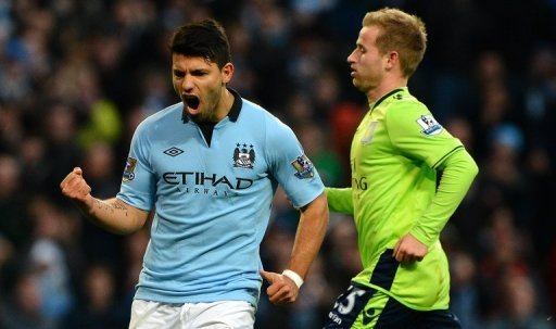 Striker Sergio Aguero is on a hot streak with four goals in three games for City