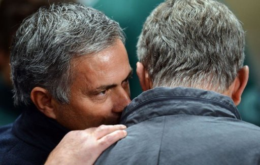 It was Real Madrid manager Jose Mourinho's (L) 100th Champions League game