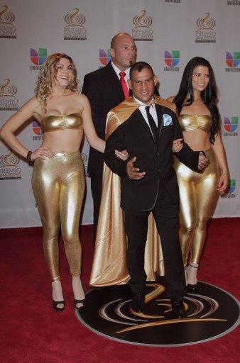 Hector 'Macho' Camacho arrives at the Premio Lo Nuestro a La Musica Latina at American Airlines Arena in Miami, Florida
