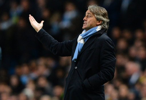 City lead the Premier League but Mancini says they are not yet major players on the continental scene